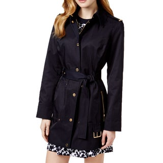 Michael Michael Kors Navy Belted Trench Coat