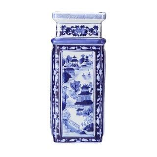 Square Vase - Blue and White