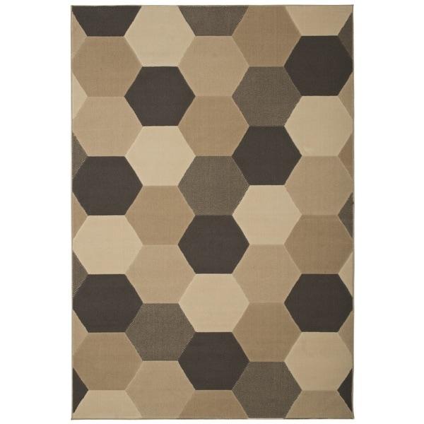 Greyson Living Octavia Beige/ Ivory Olefin Area Rug (5'3 x 7'6)