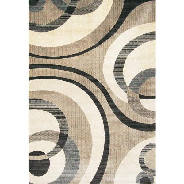 Greyson Living Lazer Grey/ Ivory Viscose Area Rug (7'10 x 11'2)