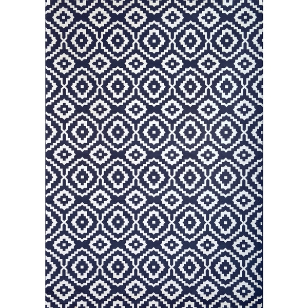 Greyson Living Owen Navy/ White Viscose Area Rug (7'10 x 11'2)