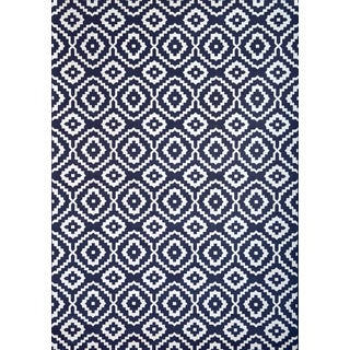 Greyson Living Owen Navy/ White Viscose Area Rug (7'9 x 10'8)