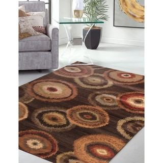 Greyson Living Corona Chocolate/ Tan/ Sage/ Rust Viscose Area Rug (7'9 x 10'6)