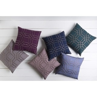 Decorative Line 18-inch Poly or Down Filled Throw Pillow