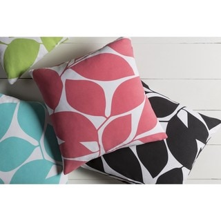 Decorative Path 18-inch Poly or Down Filled Throw Pillow