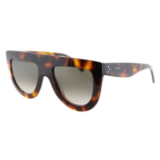 Celine CL 41398 Andrea 05L Havana Plastic Brown Gradient Lens Fashion Sunglasses
