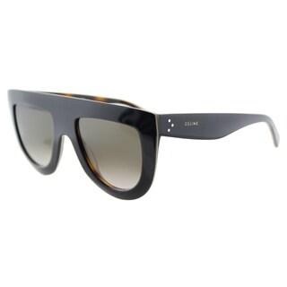 Celine CL 41398 Andrea 273 Blue on Beige Havana Plastic Brown Gradient Lens Fashion Sunglasses