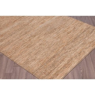Hand-knotted Jute Knobby Loop Rug (7'6 x 9'6)