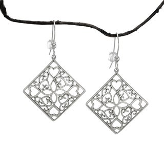 Jewelry by Dawn Diamond-shaped Scrolled Sterling Silver Earrings