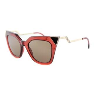 Fendi FF 0060 N9M Brick Gold Plastic Brown Mirror Lens Sunglasses
