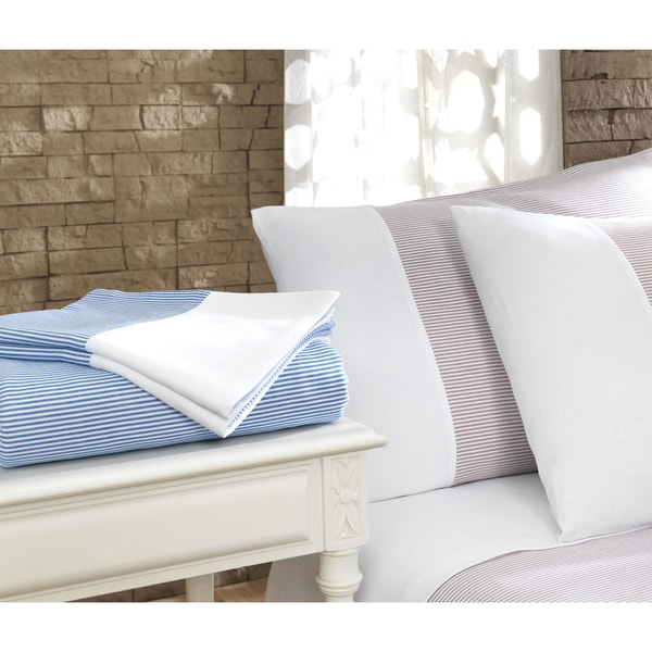 Pamuk Luxury Stripe 300 Thread Count Turkish Cotton 4-piece Sheet Set