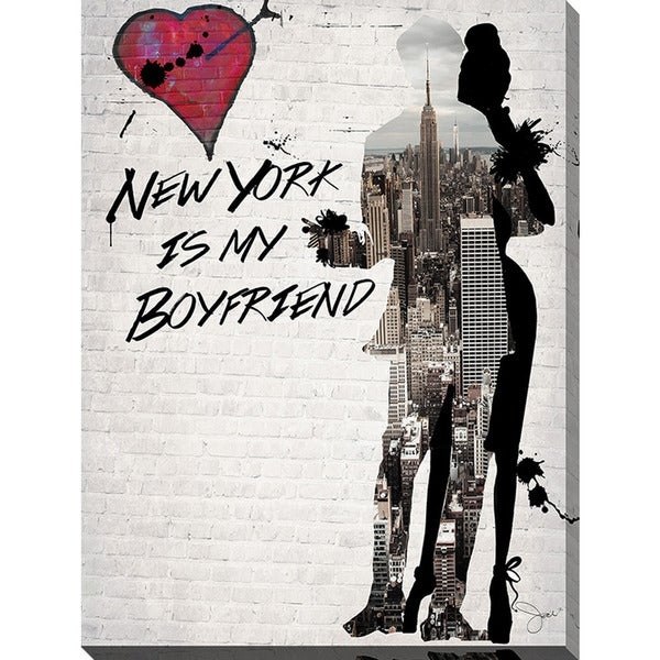 BY Jodi 'New York Is My Boyfriend' Giclee Print Canvas Wall Art