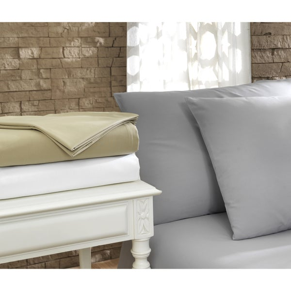 Pamuk Luxury Solid 300 Thread Count Turkish Cotton 4-piece Sheet Set