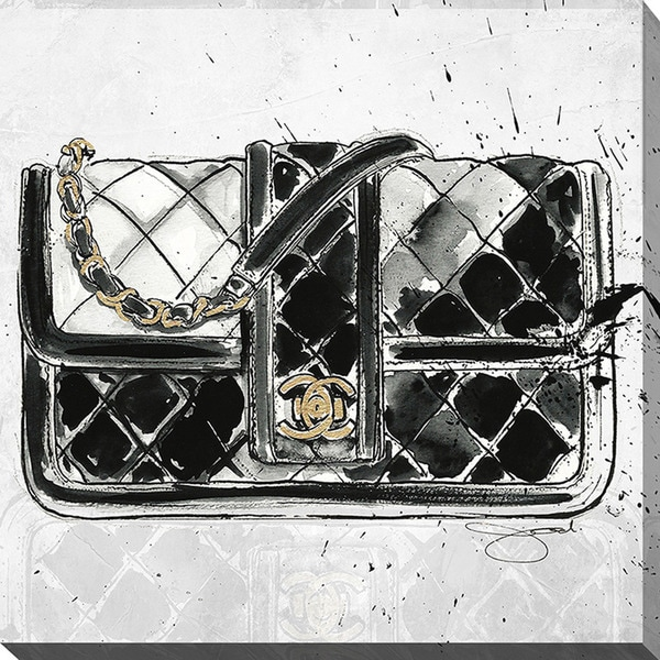 BY Jodi 'Chanel Bag Black' Giclee Print Canvas Wall Art