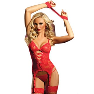 Women's Red Lace-up Front Cami