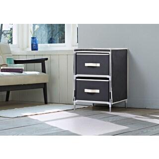 Homestar Black Fabric 2-drawer Dresser
