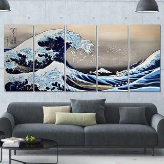 Hand-painted Under the Wave off Kanagawa by Katsushika Hokusai