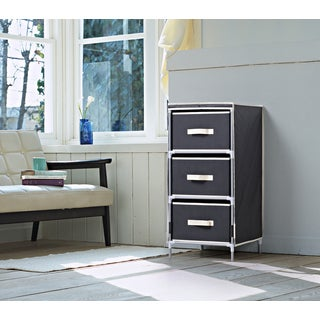 Homestar Black Fabric 3-drawer Dresser