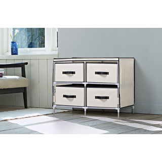 Homestar Beige Fabric 4-drawer Dresser