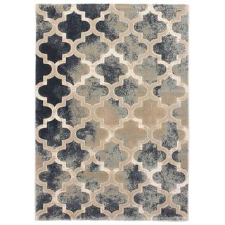 Ecarpetgallery Abstract Beige/ Grey Rug (3'11 x 5'7)