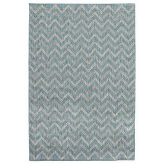 Ecarpetgallery Illusion Blue Rug (4'11 x 7'7)