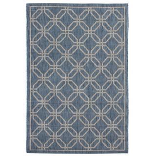 Ecarpetgallery Illusion Blue Open Field Rug (4'11 x 7'7)
