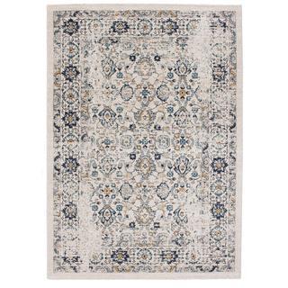 Ecarpetgallery Zhara Beige/ Grey Rug (5'3 x 7'7)