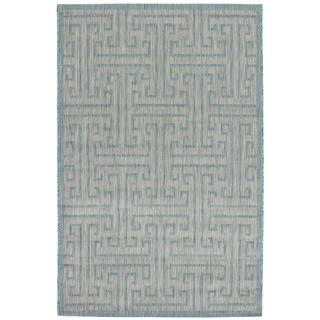 Ecarpetgallery Illusion Blue/ Grey Rug (4'11 x 7'7)
