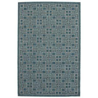 Ecarpetgallery Illusion Blue/ Grey Open Field Rug (4'11 x 7'7)