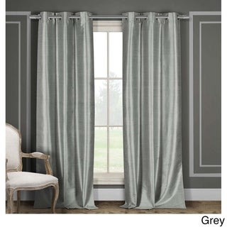 Duck River Faux Silk Thermal-Insulated Blackout Window Curtain Panels (Set of 2)