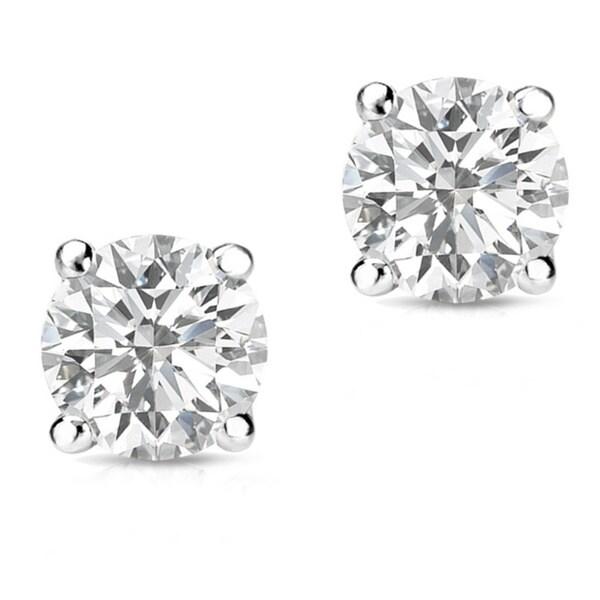 Auriya 14k Gold 1/2ct TDW Round-Cut Diamond Screw-Back Single Stud Earring 17707041
