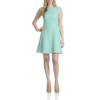 Tahari Women's Floral Pattern A-Line Dress