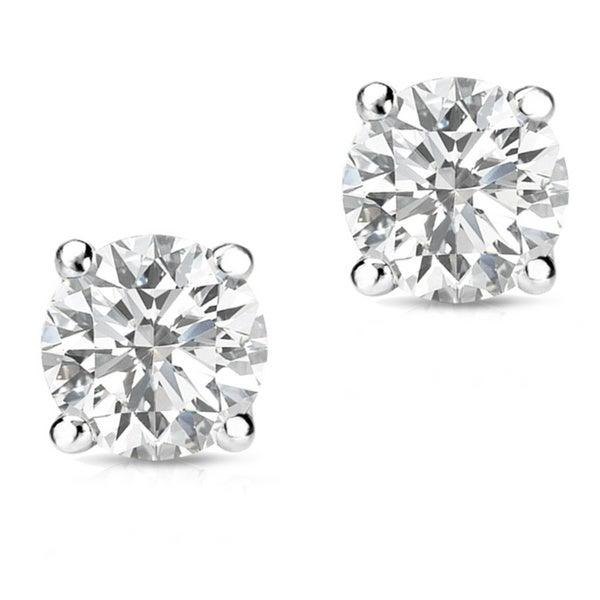 Auriya 14k Gold 1/2ct TDW Round-Cut Diamond Screw-Back Single Stud Earring 17707098