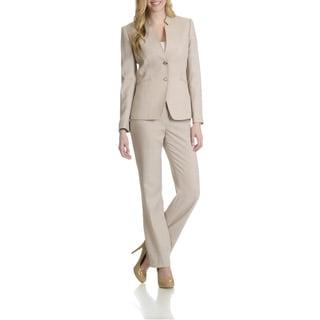 Tahari Women's Mandarin Collar Pant Suit