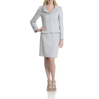 Tahari Women's Embellisehd 2 Piece Skirt Suit