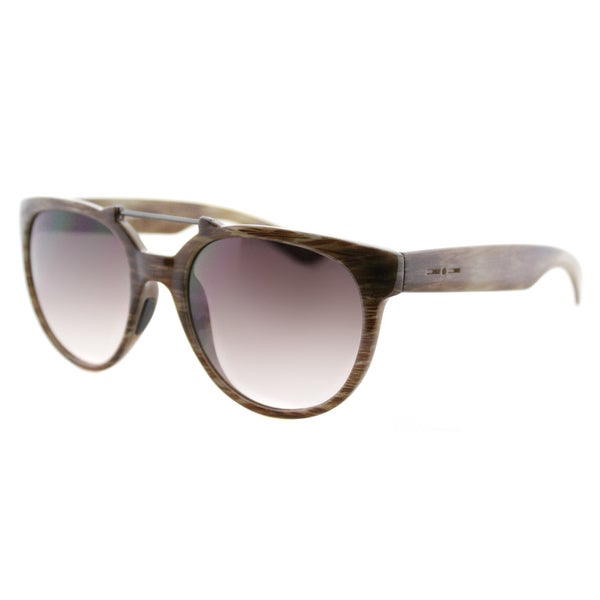 Italia Independent IT 0916 I-Plastik BH2_044 Brush Brown Plastic Grey Lens Fashion Sunglasses