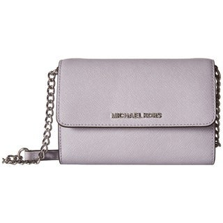 Michael Kors Jet Set Lilac Leather Large Phone Crossbody Handbag