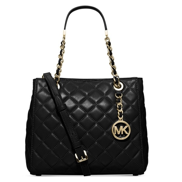Michael Kors Susannah Black Small North/South Tote Handbag