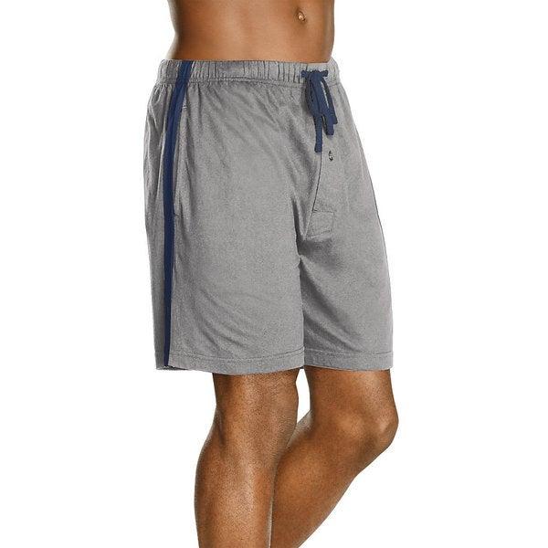 Hanes Men's Logo Waistband Striped Shorts (Pack of 2)