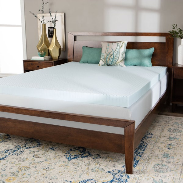 Splendorest 4-inch Gel Memory Foam Twin XL Dorm Mattress Topper
