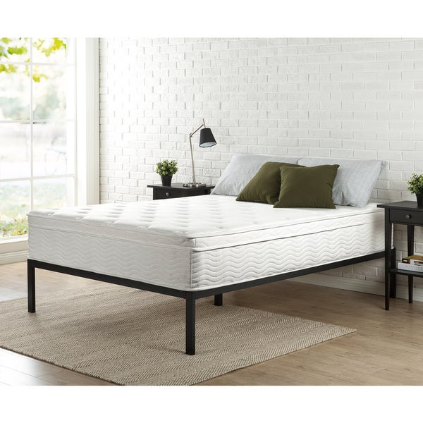Priage 12-inch Full-size Euro Box Top Spring Mattress