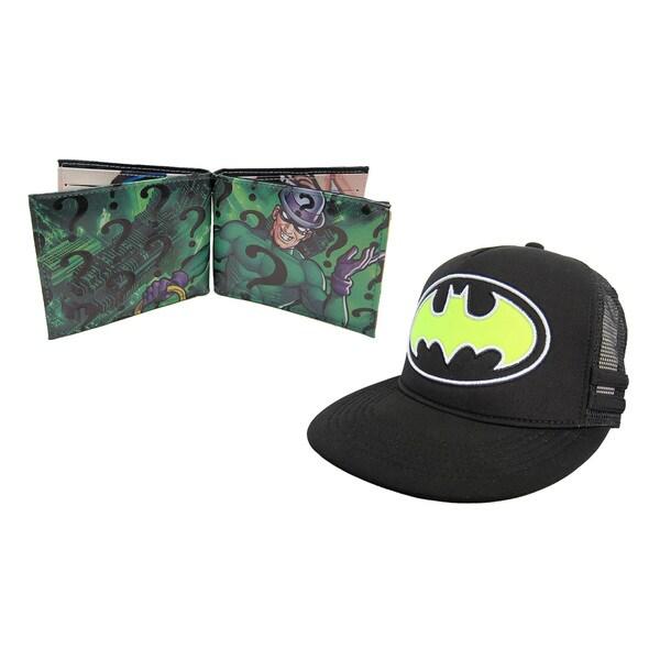 Batman Hat/ Green Riddler Wallet
