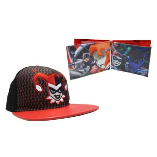 Harley Quinn Hat and Wallet Combo