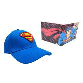 Superman Classic Blue Hat and Wallet Combo