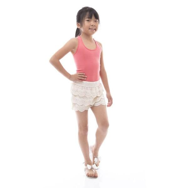 Soho Girls 4/6 Years Tier Crochet Shorts in Assorted Colors