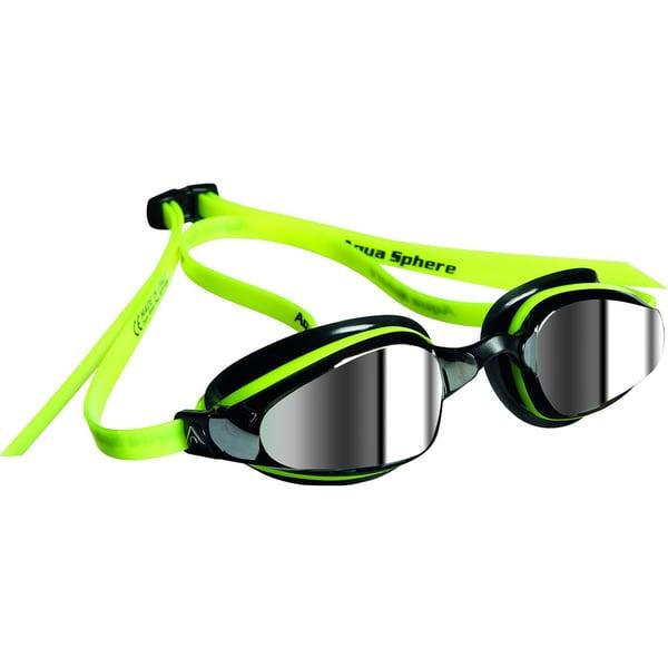 K180 Goggle Mirrored Lens Yellow Black