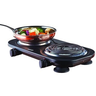Brentwood TS-361BK Black 1500-watt Electric Double Burner