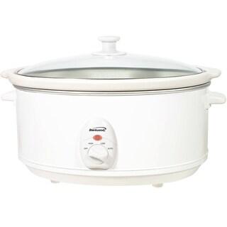 Brentwood SC-145W White 6.5 Quart Slow Cooker
