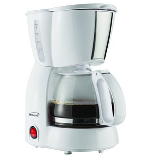 Brentwood TS-213W White 4-cup Coffee Maker