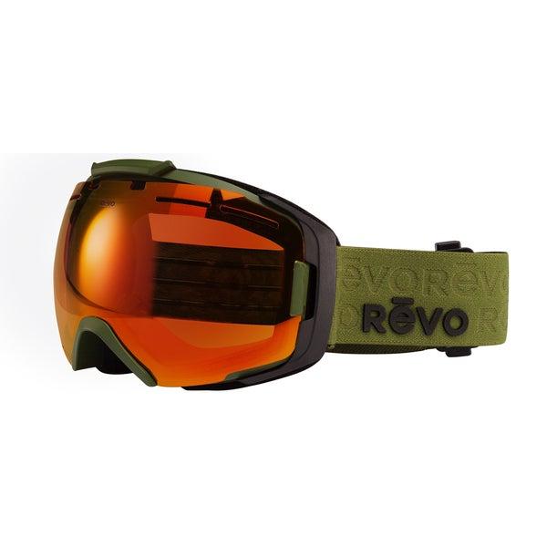 Revo Echo 08 POG Military Green Plastic Sport Snow Goggles